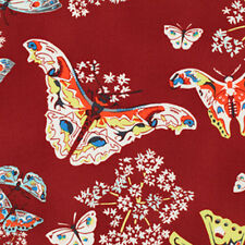 Amy Butler Alchemy Studio Organic Fabric Queen Anne Butterfly in Ruby PWAB103