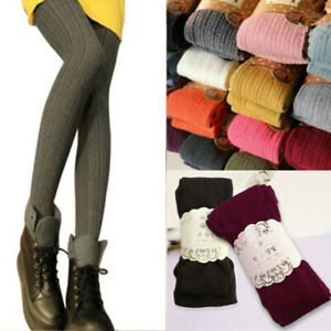 Women Ladies Warm  Soft Stretch Stocking Woolly Knitted Stretch Tights Pantyhose