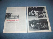 "Lozier Automobile Company Vintage Profile Article ""The Incomparable Lozier"""