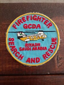Saudi Arabia Helicopter - Firefighter Search Air Rescue Flight SAR Aero - PATCH