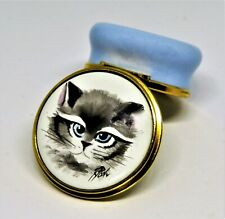 Kingsley/Moorcroft English Enamel Box - Himalayan Cat Face - Kitty - Ray Poole