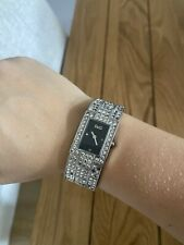D&G Ladies Silver Diamanté Watch