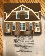 Cat's Meow Village 1991 Collector's Club Edition Limberlost Cabin Retired Signed