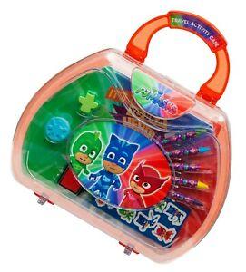 Licensed Disney Character PJ Mask Activity Travel  Case Set Kids Xmas Gift 3+Y