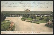 Postcard HUDSON New York/NY  Electric Amusement Park Trolley Depot view 1907