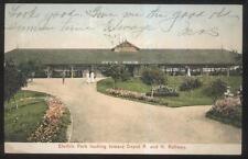 Postcard HUDSON New York/NY  Electric Amusement Park Trolley Depot view 1907