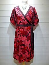 Fat Face Wrap Dress ~ Size 12 ~ Pink Purple Orange ~ Short Sleeve ~ Casual ~1897