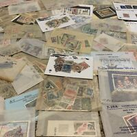 WORLDWIDE STAMPS LOT IN GLASSINES OFF PAPER. MANY WW COUNTRIES. NO U.S.