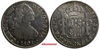 Mexico SPANISH COLONY Charles IV Silver 1801 Mo FT 2 Reales KM# 91