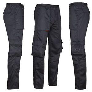 Arbeitshose Multifunktion Cargo Bundhose schwarz Freizeit Berufskleidung Gr46-60