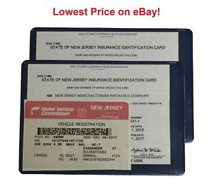 2 (two) Auto car Insurance Registration ID Card Holders Holder