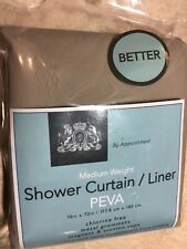 EX-CELL HOME FASHIONS SHOWER CURTAIN LINER TAUPE MEDIUM WEIGHT PEVA, 70 x 71-In.