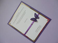 SINGLE BUTTERFLY POST BOX SIGN WEDDING BIRTHDAY CHRISTENING ENGAGMENT UR COLOUR