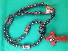 Saint Benedict Wood Rosary handmade from Mexico
