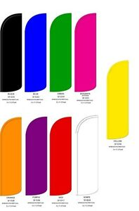 SOLID FULL COLOR 3FTx11.5FT ADVERTISING SWOOPER FEATHER BANNER FLAG SIGN