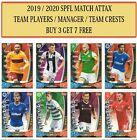 Topps SPFL Match Attax 2019/20 2020 Choose Team cards #1- #216