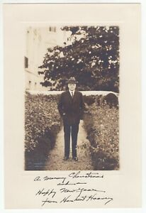 Herbert Hoover - 31st U.S. President - Silver Gelatin Photo w Facs. Sig.