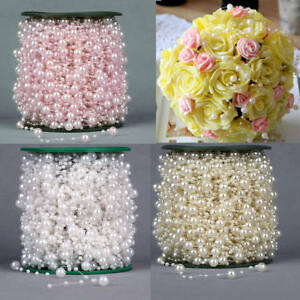 60m Faux Pearl Bead String Garland Wedding Party Decoration Celebration Bouquet