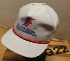 VINTAGE SUPER FOODS BELLEFONTAINE DIVISION TRUCKERS HAT SNAPBACK USA MADE G22