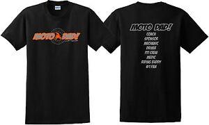 MOTO DAD T SHIRT JUST RIDE MX MOTOCROSS YZ CR KX KTM RACE DIRT BIKE RM FATHER