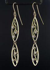"""Custom Rare James Avery 18k Gold Diamond Dangle Earrings 0.75ct 2.75"""" EG302"""