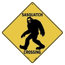 Sasquatch Crossing Sign NEW 12X12 Metal Bigfoot