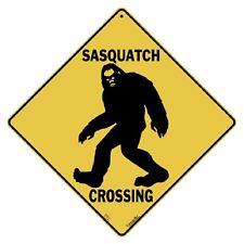 Sasquatch Crossing Sign New 12X12 Metal Bigfoot