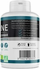 Spiruline Bio Vegan MADE IN FRANCE 500 MG 500 Comprimés Protéines Sante Cuisine