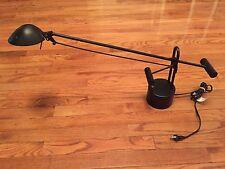 """Industrial Black Lamp Counter Balance Weight Halogen Light Lamp 4400, 21"""" Reach"""
