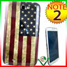 Cover custodia BANDIERA VINTAGE USA per Samsung Galaxy Note 2 N7100 II America