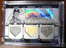 Stan Musial 2006 Topps Triple Threads White Whale Autographed 1/1 Bat Uniform