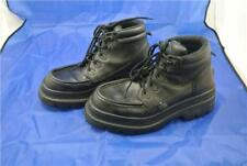 POD SHOE WORK SCHOOL BOOT SIZE 9 UK SMOOTH LEATHER BLACK LACE UP HI TOP TRAINER