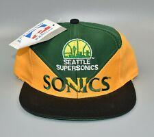 Seattle Sonics Supersonics Vintage 90's Twins Enterprise KIDS Snapback Cap Hat