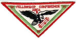 BOY SCOUTS OA Conclave AREA 5B 1958 Section BSA PATCH BADGE