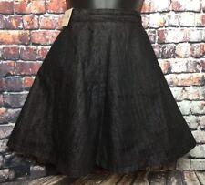 NEW 8 NEXT black full circle mini short denim skirt casual work party waitress