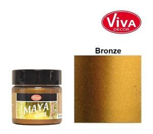 Maya Gold (100ml=15,44€) 45 ml Metallic-Efffekt-Farbe, Maja Farbwahl, Viva Decor
