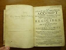 1660 REGICIDES TRIAL of the MURTHERERS of His SACRED MAJESTY Impartial ACCOMPT