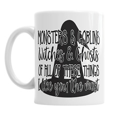Monsters Goblins Witches Ghosts Halloween Novelty Ceramic Coffee Mug Gift