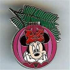 MINNIE CHRISTMAS ORNAMENT COLLECTION Hidden Mickey Cast LANYARD Disney PIN