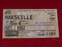 [COLLECTION SPORT FOOTBALL] TICKET PSG / MARSEILLE 12 OCTOBRE 1999 Champ.France