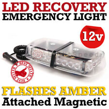 MAGNETIC 24 LED 1W ROOF EMERGENCY WARNING LIGHT BAR STROBE MAGNET or DRILL MOUNT