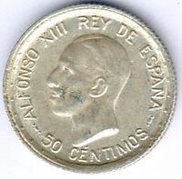 Spanien Alfonso XIII. (1886-1931) 50 Centimos 1926 PC-S KM#741, ss/vz