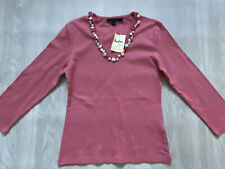 BODEN  pink  cotton top size 8  NEW  button detail