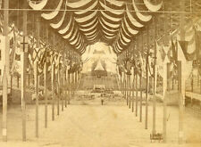 """INTERIOR OF OLD BOSTON MASS COLISEUM BUILDING """"TEMPLE OF PEACE"""" 1869 STEREOVIEW"""