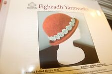 """Figheadh Knitting Pattern 2222 Madrona Felted Derby Hat 18-24"""""""