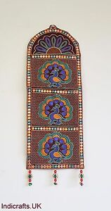 Indian Handicrafts Elephant Parrot  Ethnic Traditional  Wall Hanging Letter Box