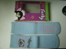 FURBY TODDLER SLIPPER SOCKS NON-SKID  FITS AGES 2 - 4  YEARS OLD  ((  BLUE  ))