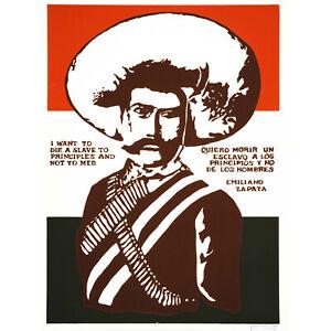 PROPAGANDA POLITICAL MEXICO ZAPATA REVOLUTIONARY MARTYR NEW FINE ART PRINT POSTE