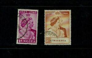 Nigeria: 1948  Royal Silver Wedding,  Good Used set