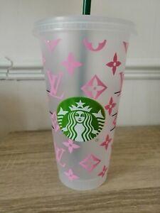 Pink Starbucks Designed Cold Cup Tumbler Venti Personalised